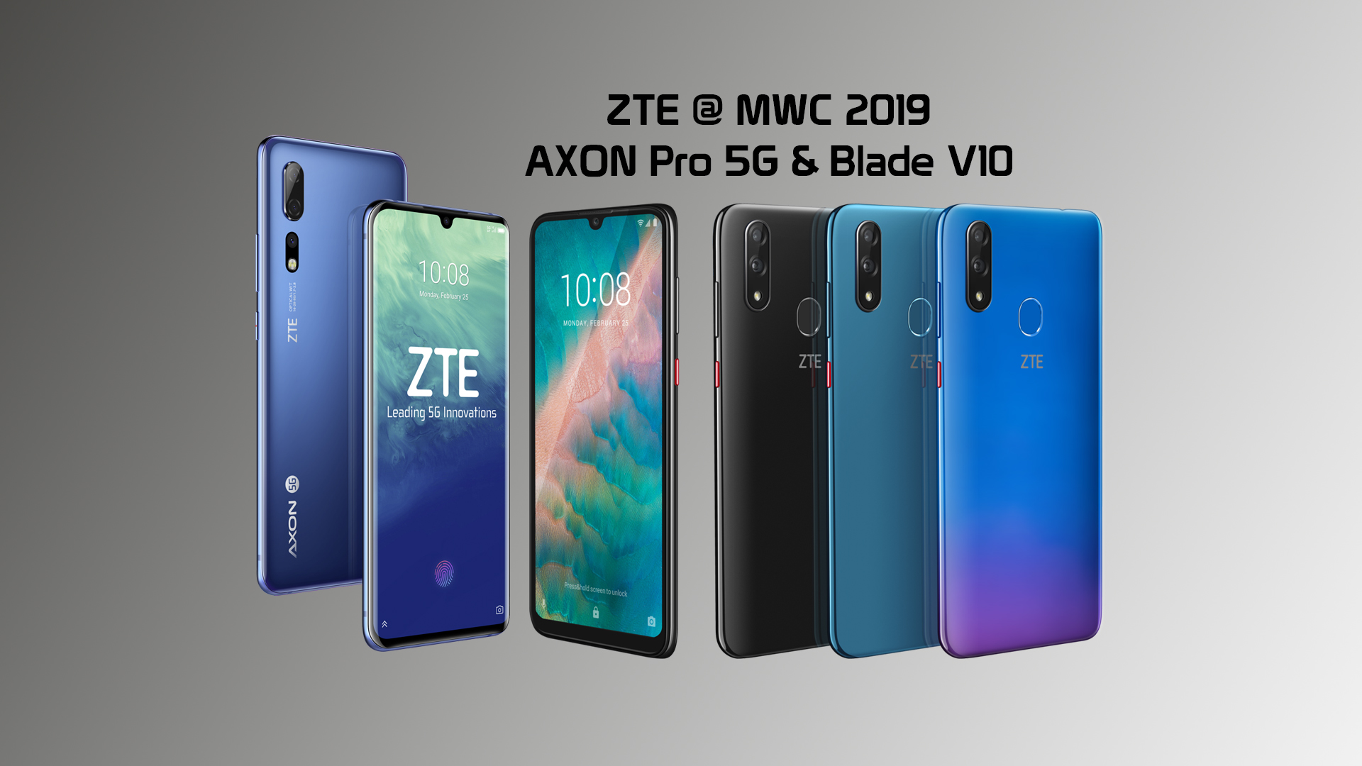 mwc 2019 zte pr sentiert neue smartphones gamerschoice von gamern f r gamer. Black Bedroom Furniture Sets. Home Design Ideas